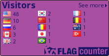 http://s06.flagcounter.com/count/kkK/bg=A84FA2/txt=1D1566/border=000000/columns=3/maxflags=14/viewers=0/labels=0/