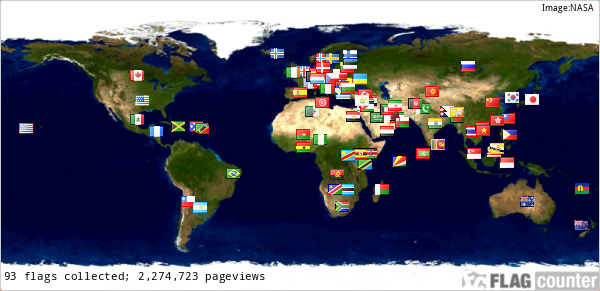 OUR VISITOR LOCATIONS ACCROSS THE GLOBE!